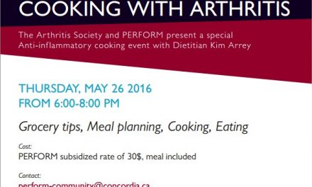 Anti-inflammatory cooking event