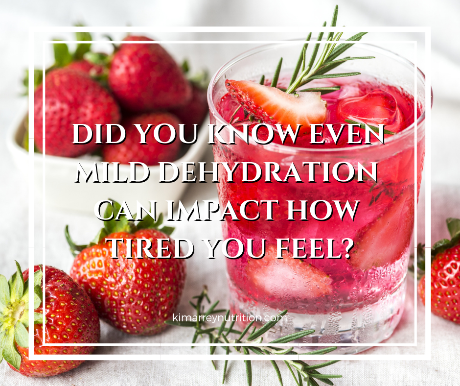 Did you know even mild dehydration can impact how tired you feel?